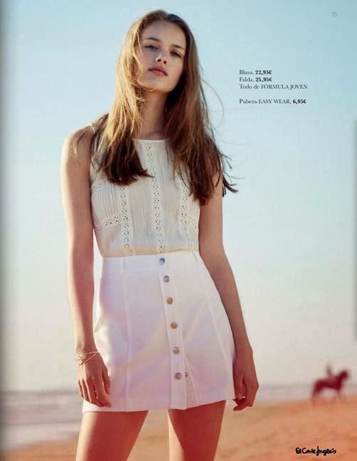 Blusa y falda de verano 2015