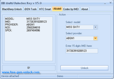 Alcatel multi Unlocker Key v15.0