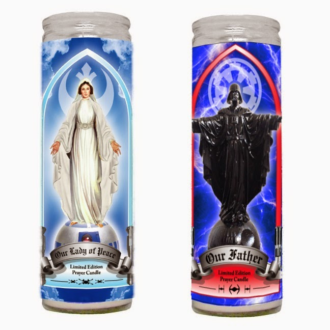 "Star Wars Prayer Candles by Sket One - ""Our Father"" & ""Our Lady of Peace"""