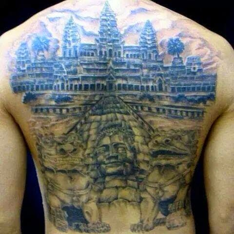 17 cambodian tattoo designs and meanings angkor wat tattoos pictures to pin on pinterest. Black Bedroom Furniture Sets. Home Design Ideas