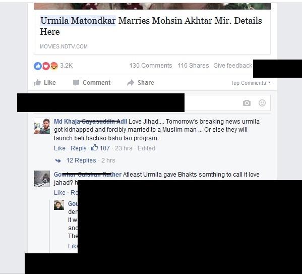 urmila matondkar married muslim