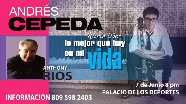 """Andrés Cepeda """"word Tour""""7 de junio 8pm, Palacio de los Deportes de Santo Domingo"""