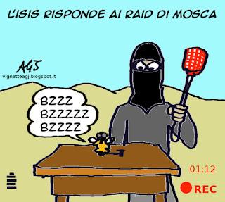 ISIS, Mosca, Siria, vignetta, satira