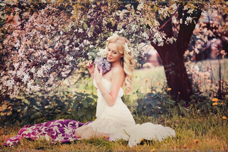 Фотосессия самсоновой в саду