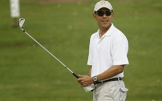 Obama at golf