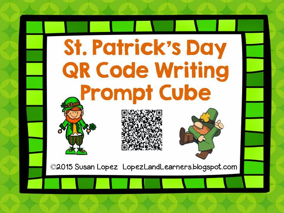 https://www.teacherspayteachers.com/Product/St-Patricks-Day-QR-Code-Writing-Prompt-Cube-1761660