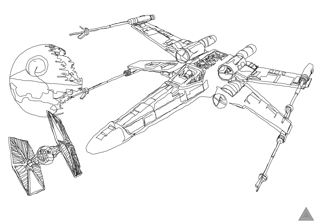 Coloring page x wing - April 10 2012
