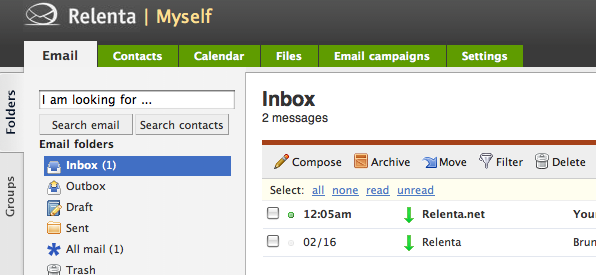 Clean your inbox email