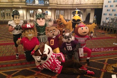 Big Ten mascots get together to haunt your dreams forever.