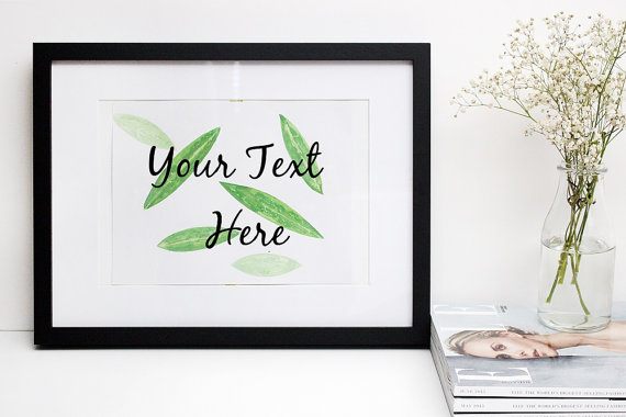 custom quote prints, custom prints, custom art, printed quotes, handpainted prints