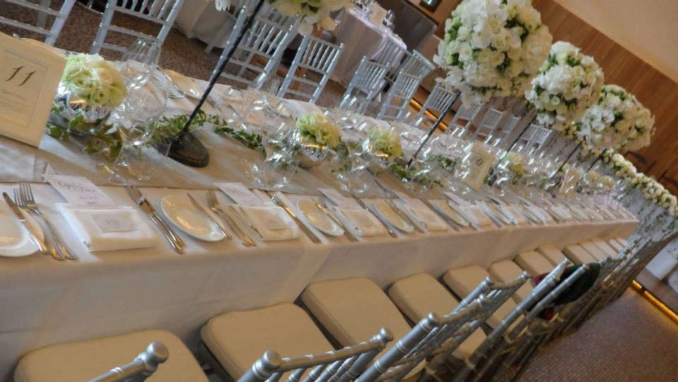 Silver Is The Brides Colour And So Our Tiffany Chairs Table Runners Made Her Wedding Even More Beautiful