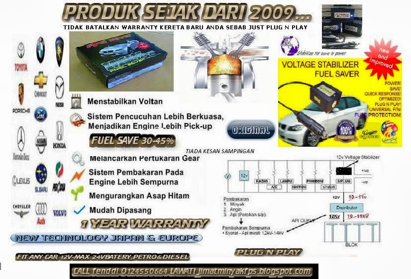 fps ALAT JIMAT MINYAK KERETA /FPS FUEL SAVER CAR  VOLTAGE