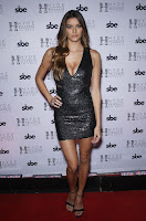 Vanessa Hanson bare sexy cleavage UFC 194 After Party red carpet dresses photos