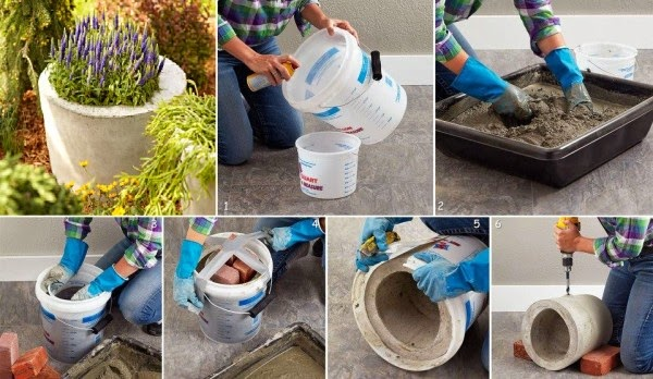 Clube do concreto jarro de concreto com formas de papel o for Flower pot making with waste material