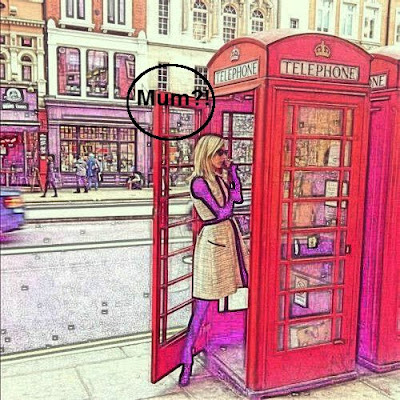 Girl in a phone box