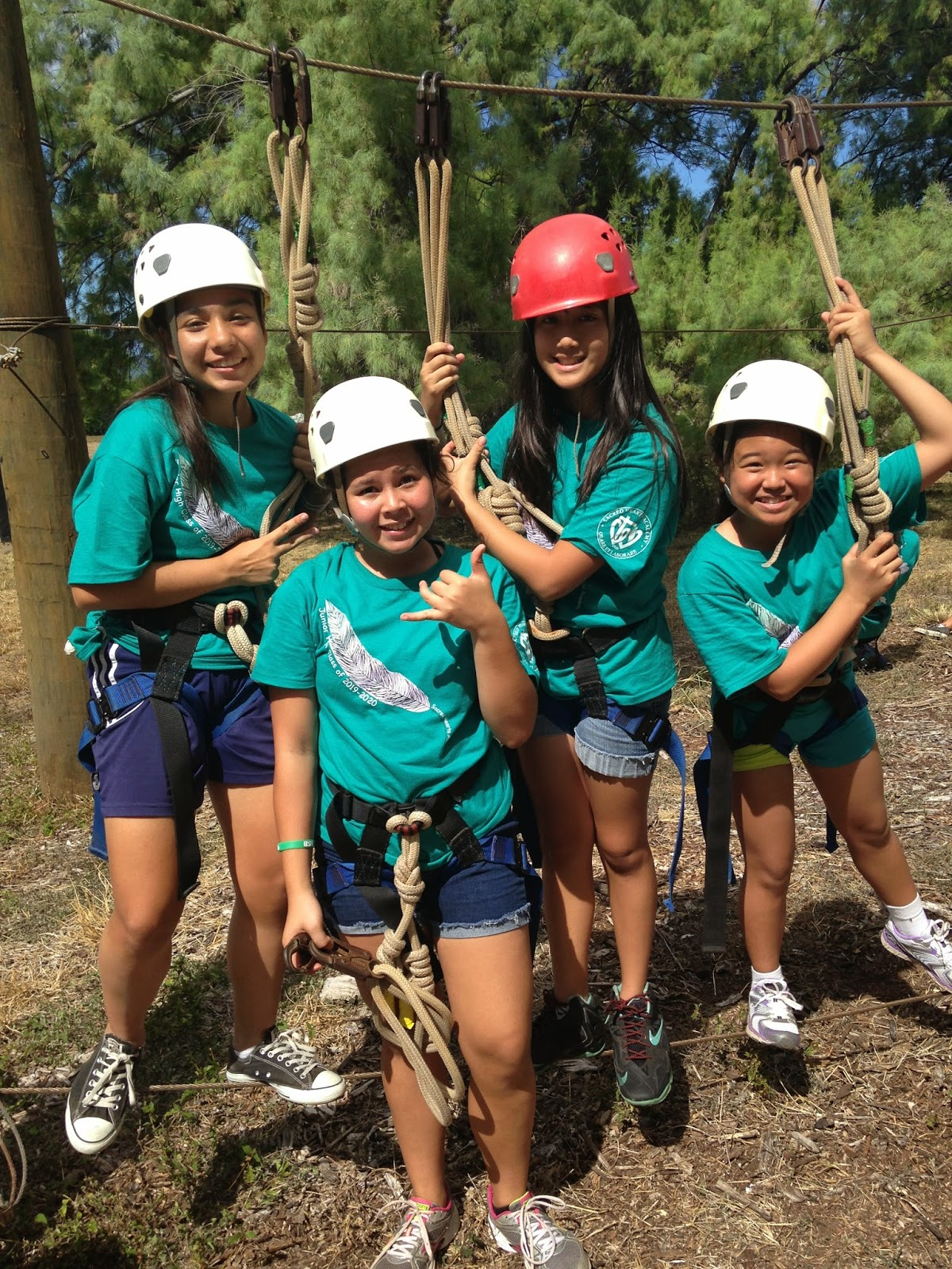 Sacred Hearts Academy Seventh Graders Take on Challenges at Camp Erdman