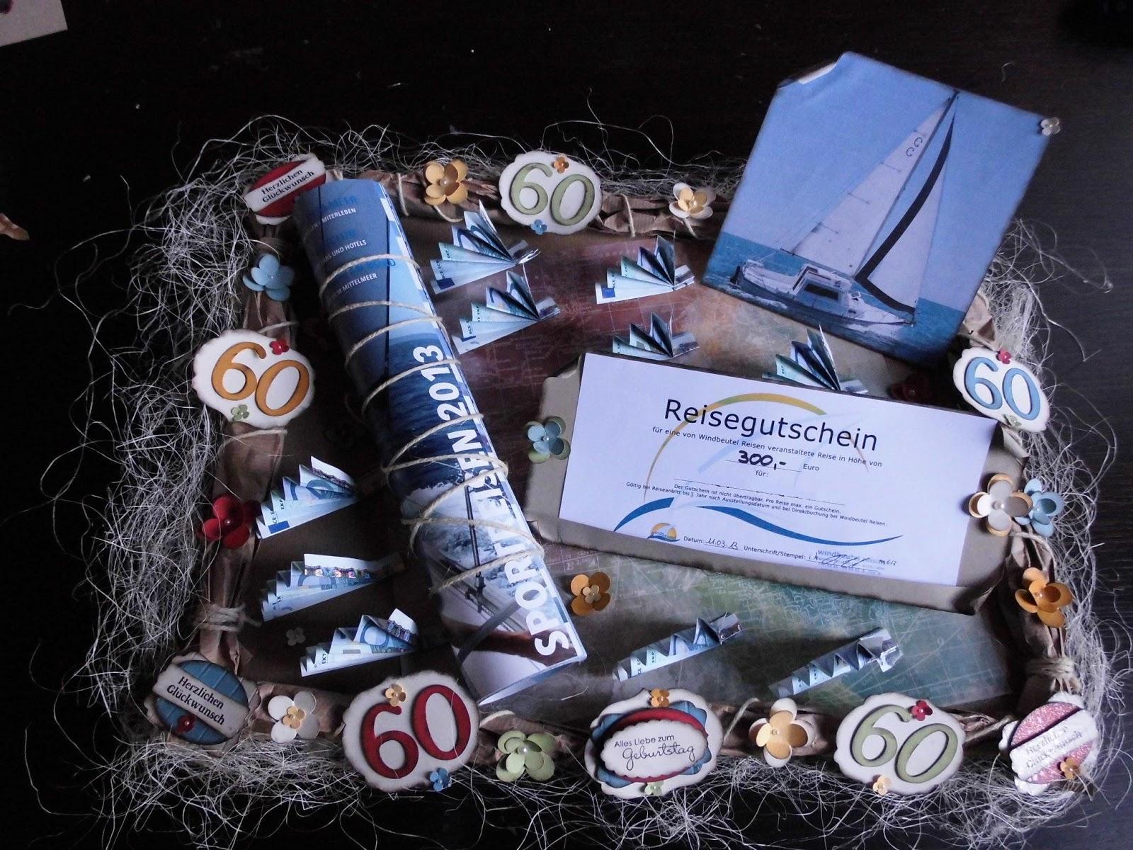 Kreativ am deich geld geschenkverpackung zum for Geschenk zum 60 mutter
