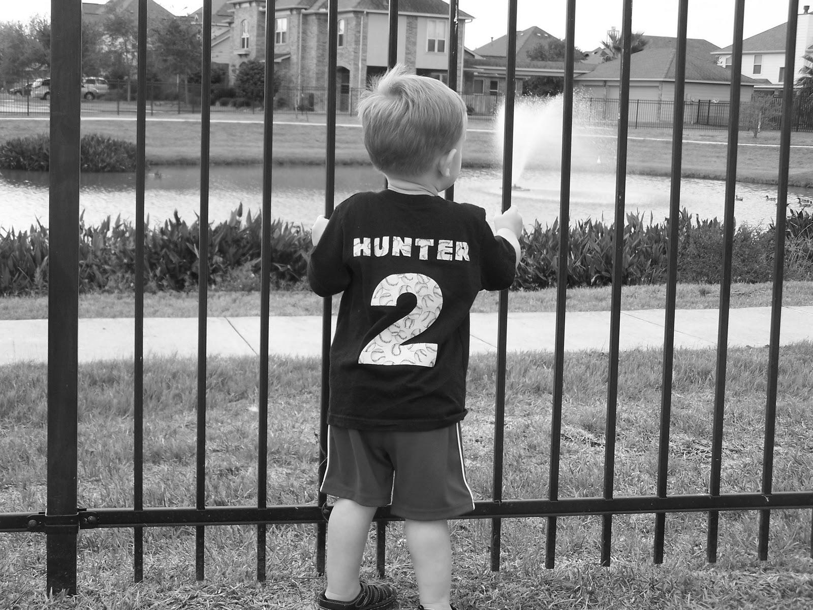 Sporting His 2nd Birthday Shirt