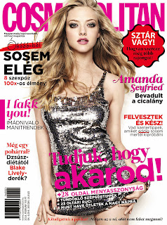 Magazine Cover : Amanda Seyfried Magazine Photoshoot Pics on Cosmopolitan Magazine Hungary February 2014 Issue