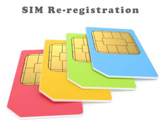Re-registration of SIM Card by SMS