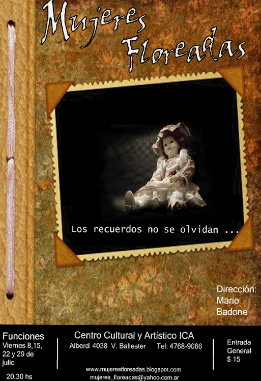"Afiche de ""Mujeres Floreadas"""