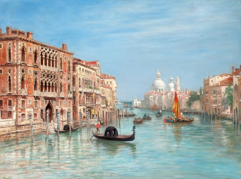 Frans Wilhelm Odelmark 1849-1937 | Swedish painter | Canale Grande Venedig