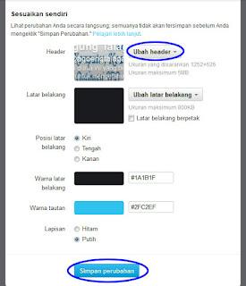 Cara Memasang Gambar Header Pada Profil Twitter