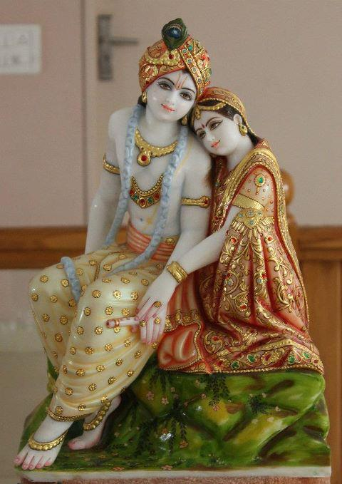 Facebook Passion: Radha Krishna in Love Wallpaper