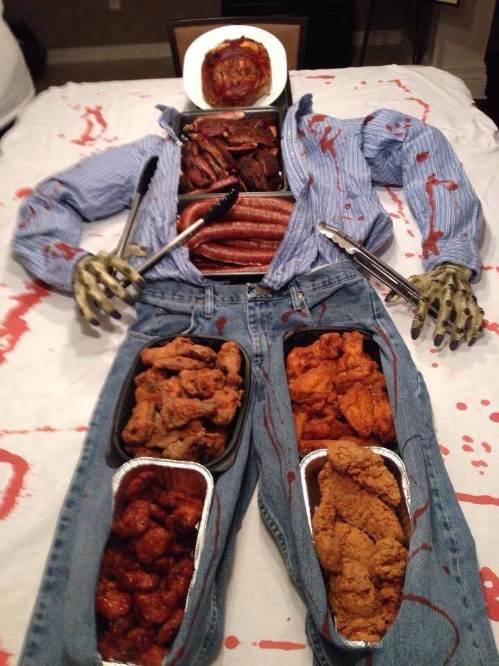 Fantástico jantar de Halloween