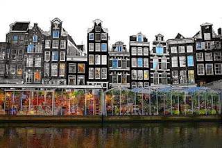 Blomstermarked i Amsterdam