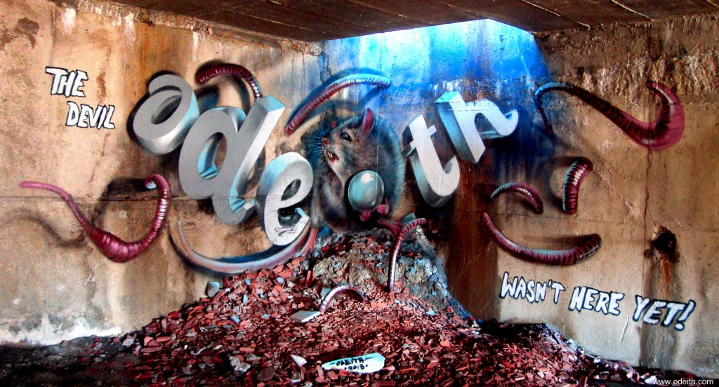 12-Rat-Worms-Dark-Place-Odeith-3D-Anamorphic-Graffiti-Drawings-www-designstack-co