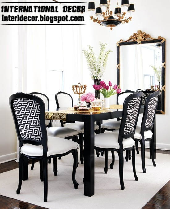 dining room furniture ideas, black and white dining room furniture