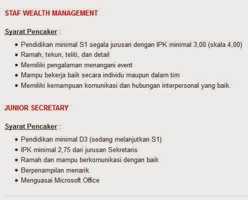 lowongan kerja bank bca sidoarjo