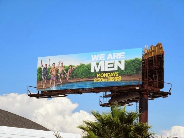 We Are Men CBS sitcom billboard