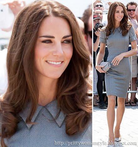 Кейт Мидълтън с къса сива рокля