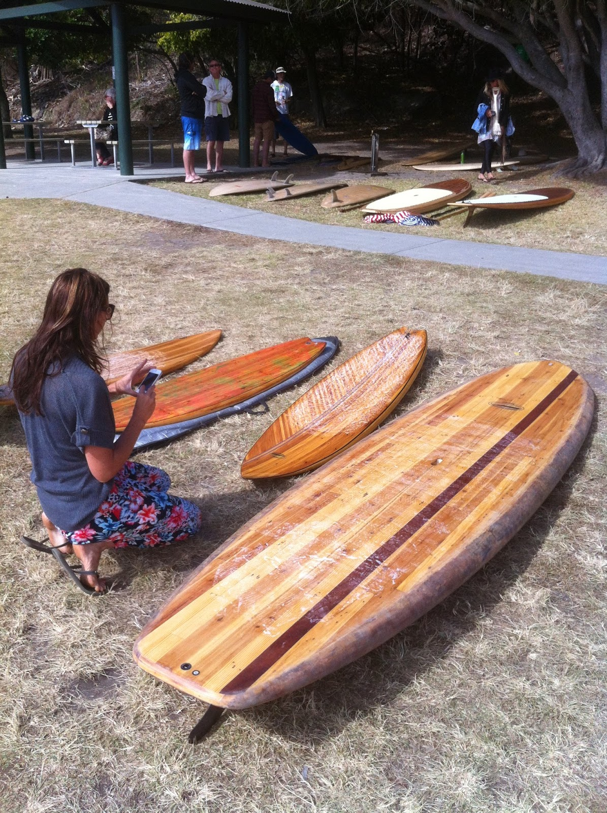 wooden surfboard day