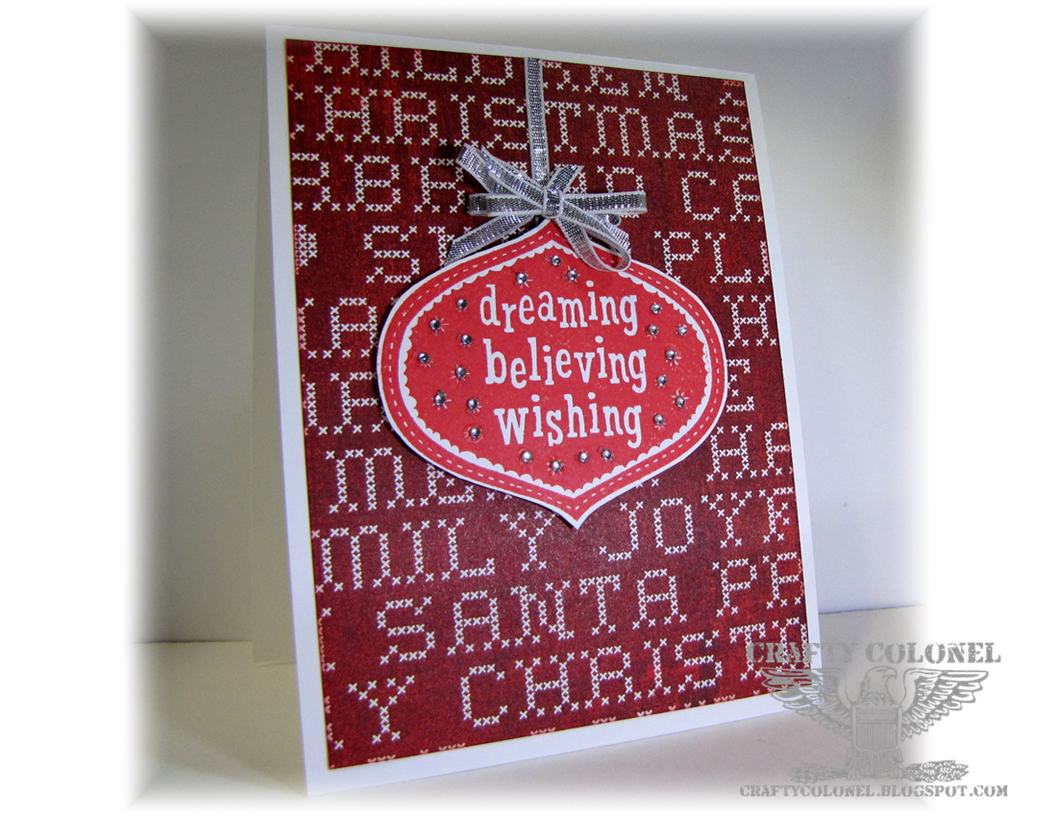 Crafty Colonel Donna Nuce, for CASE-ing Christmas Challenge Blog