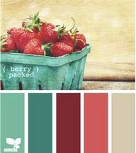 I love the turquoise and the strawberry color.  I even like the tan.  I thought of painting my downstairs bathroom a light shade of gray - but maybe this would work.