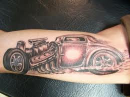 Rat Rod Car Tattoo