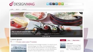 Download DesignMag Blogger Template