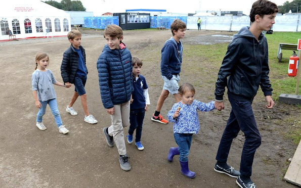 Princess Marie of Denmark, Prince Joachim, Prince Nikolai, Prince Felix, Prince Henrik and Princess Athena