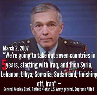 General Wesley Clark: Wars Were Planned - Seven Countries In Five Years