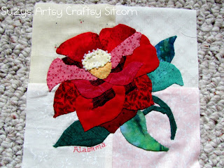 appliqued state flower alabama