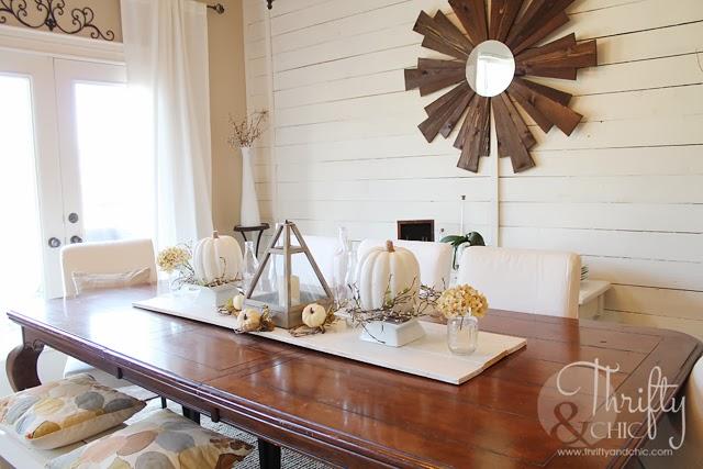 White Fall Tablescape