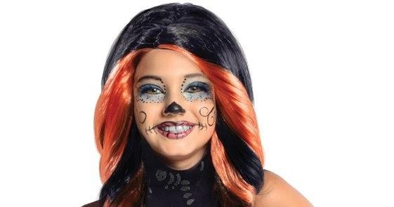 all about monster high dolls skelita calaveras halloween costume wig and sandals - Skelita Calaveras Halloween Costume