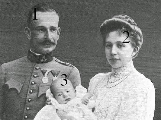Alois, Elisabeth Amalie et Franz Josef von und  zu Liechtenstein