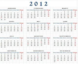 Kalender 2012 Umum