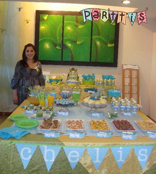 Parttis haz t misma tu mesa de dulces postres botanas for Como decorar mesa de postres para baby shower