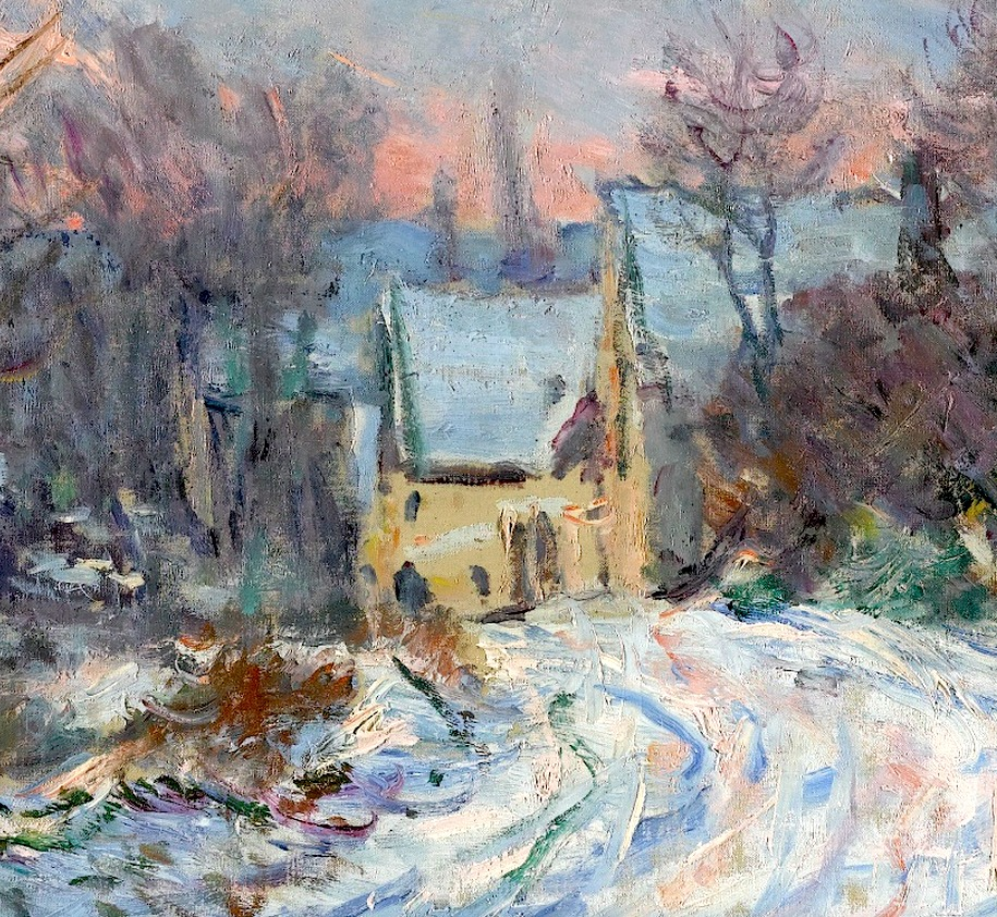 Artventures Monets Paintings of Snow