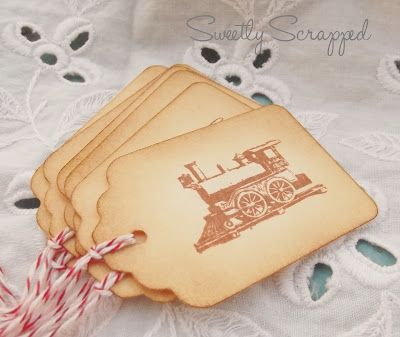 http://www.sweetlyscrapped.com/vintage-train-in-sepia-bakers-twine.html
